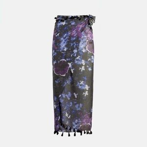 NWT Peter Som Dream Floral Print Sarong